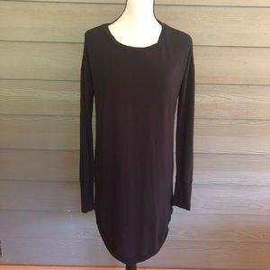 Athleta Sweatshirt Dress Medium Black Shift Tunic